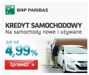 bnp paribas kredyty samochodowe